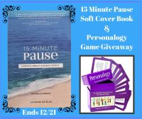 Enter for a chance to #Win a 15 Minute Pause Book & Personalogy Game when this #Giveaway ends 12/21. #GiveawayAlert #Prize #Free #Gift #Holiday #SMGN #GiftGuide