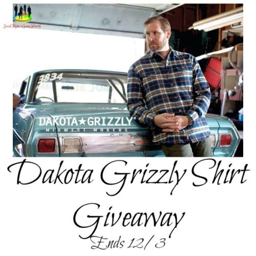 One Lucky Reader Will Win A Dakota Grizzly Shirt When This Holiday Giveaway Ends 12/3. #SMGN #GiftGuide #Win #Winit #Sweeps #ContestAlert #Giveaway #GiveawayAlert #Prize #Free #Gift #Holiday #Christmas