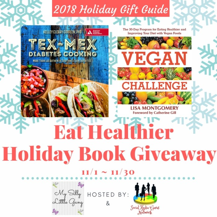One Lucky Winner Will Receive Both The Tex-Mex Diabetes Cooking & Vegan Challenge Books When This Eat Healthier Cookbook Giveaway Ends 11/30. #Giveaway #GiveawayAlert #Prize #Free #Gift #Holiday #Christmas