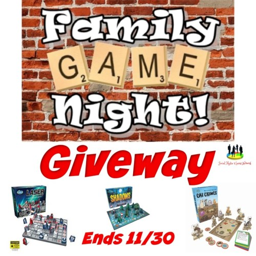 Family Game Night Holiday Giveaway For ThinkFun Games Ends 11/30