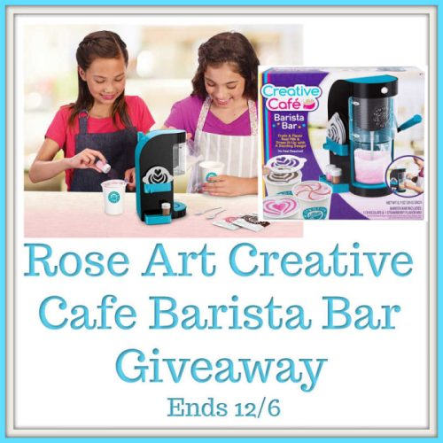 One lucky reader will #Win a Rose Art Creative Café Barista Bar to put under their Christmas tree when this #Holiday #Gift Guide #Giveaway ends 12/6. #SMGN #GiftGuide #Win #Winit #Sweeps #ContestAlert #GiveawayAlert #Prize #Christmas