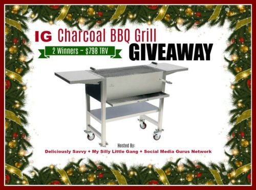 Two Win This IG Charcoal BBQ Grill Giveaway When It Ends 12/25 ($798 TRV)