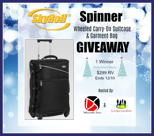Spinner Wheeled Carry-On Suitcase & Garment Bag Giveaway Ends 12/20