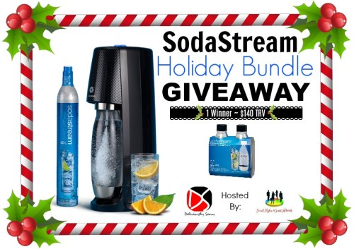 One lucky reader will #win a SodaStream Holiday Bundle worth $140 when this #Holiday #Gift Guide #Giveaway ends 12/21. #Sweeps #GiftGuide #Prize #Free #Sweepstake #Winit #Christmas