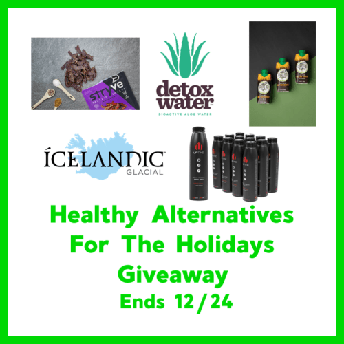 You can win a Healthy Alternatives Prize Package when this giveaway ends 12/24 #SMGN #GiftGuide #Win #Winit #Sweeps #ContestAlert #Giveaway #GiveawayAlert #Prize #Free #Gift #Holiday #Christmas
