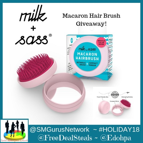 One lucky reader will #win a Milk & Sass Macaron Brush when this #Holiday #Giveaway ends 12/25. #SMGN #GiftGuide #Winit #Sweeps #ContestAlert #GiveawayAlert #Prize #Free #Gift #Christmas