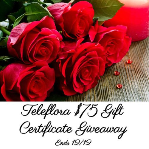 You can win a $75 Teleflora Gift Certificate when this Holiday Giveaway ends 12/12 #SMGN #GiftGuide #Win #Winit #Sweeps #ContestAlert #Giveaway #GiveawayAlert #Prize #Free #Gift #Holiday #Christmas
