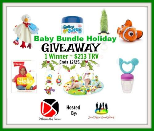 One winner receives 7 prizes worth $213 when this Baby Bundle Holiday Giveaway ends 12/25. #Winit #Giveaway #Prize #Free #Gift #SMGN #Holiday #GiftGuide