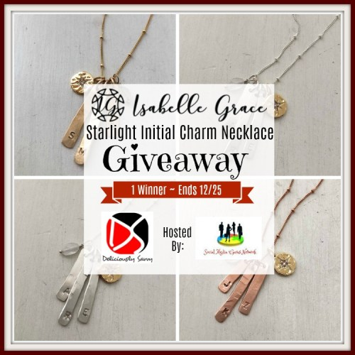 Enter to #Win a Isabelle Grace Starlight Initial Charm Necklace before this #Holiday #Gift Guide #Giveaway Ends 12/25 #Sweeps #GiftGuide #Prize #Free #Sweepstake #Winit #Christmas #Jewelry