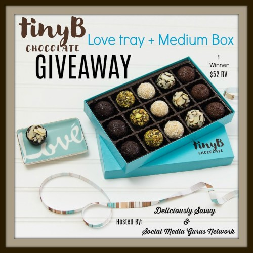 Enter for a chance to be the lucky reader who will win a love tray and a medium box of tinyB Chocolate when this holiday gift guide giveaway ends 12/17. #SMGN #GiftGuide #Win #Winit #Sweeps #ContestAlert #Giveaway #GiveawayAlert #Prize #Free #Gift #Holiday #Christmas