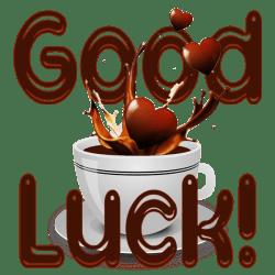 Good Luck Coffee Heart Splash
