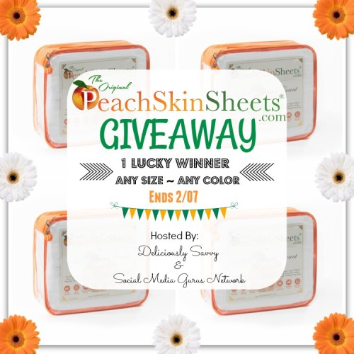 Valentine's Day #Gift Guide #Giveaway for a Set of Original #PeachSkinSheets in Any Size and Color ends 2/7. #Win #Prize #Winit #WinningWednesday #WinItWednesday #GiveawayAlert #GiftGuide #ValentinesDay