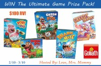 Enter the Goliath Games Ultimate Prize Pack #Giveaway and you could win #games worth $100 RV when it ends 3/10. #win #contest