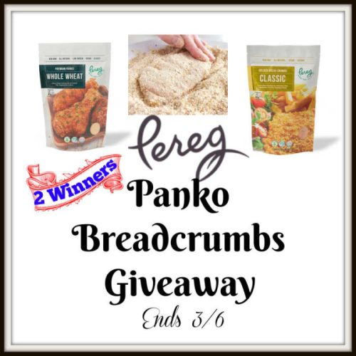 Want to add some delicious crunch to your meals for #FREE? Enter to #win some Pereg Panko Breadcrumbs before this #Giveaway ends 3/6.