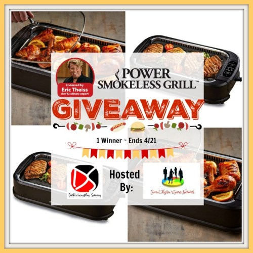 One Lucky Winner Will #Win A Power Smokeless #Grill With Additional Griddle Plate Valued At $120 when this Power Smokeless Grill 💐Spring/🐣Easter Gift Guide #Giveaway Ends 4/21.