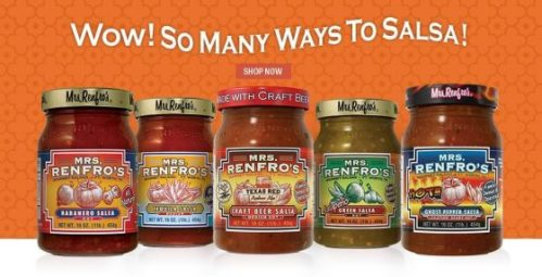 THREE lucky winners are going to #win their choice of 2 Mrs. Renfro's salsas, relishes or sauces when this #giveaway ends 4/2. @homejobsbymom @MrsRenfros