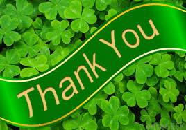 green shamrock thank you