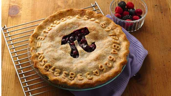 Pies For PI DayWhether your favorite is sweet or savory, we all love PIE! PI Day, the annual celebration of the mathematical constant π (pi), is on March 14th every year. Will you celebrate with a Pizza Pie, Turkey Pot Pie, Shepherd's Pie, or a Sweet Pie like Apple, Pumpkin, or Blueberry? Need a recipe? Give one of our pie delicious recipes a try. Do you make the best pie? Share your favorite recipe with us. We'd love to try it.