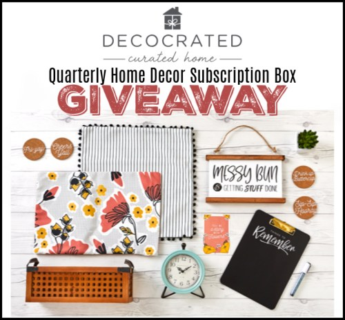 Enter this Mother's Day/Father's Day/Graduation Gift Guide #Giveaway for a chance to #win a Decocrated Quarterly Home Decor Subscription Box before it ends 6/9. #Contest #Winit #Graduation #MothersDay #FathersDay #GiftGuide #Gift