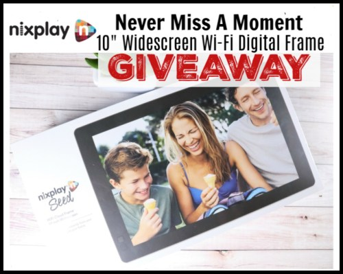 "One Lucky Entrant Will Win A Nixplay Seed 10"" Widescreen Wi-Fi Digital Frame Valued At $150 When This Gift Guide Giveaway Ends 6/30! #Contest #Winit #Graduation #MothersDay #FathersDay #GiftGuide #Gift"