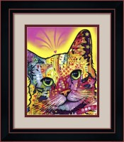 I Love My Tilt Cat by Dean Russo Framed Art Print from framedart.com