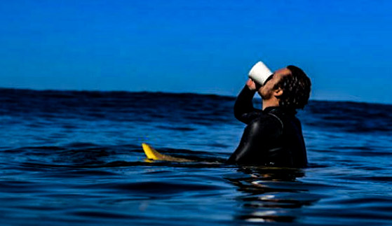 Marea Surfer Drinking Coffee