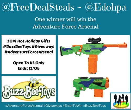 🎄 Enter and you could #WIN an Adventure Force Arsenal ~ Soft Dart Gun when this #SMGN Holiday Gift 🎁 Guide #Giveaway ends 12/8. @SMGurusNetwork #HGG19