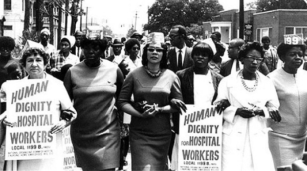 The Charleston Hospital Strike of 1969, in which mostly black workers protested discrimination and low wages, was one of the last major events of the civil rights movement. It came in the wake of Martin Luther King Jr.'s assassination a year earlier and attracted Ralph Abernathy, Coretta Scott King, Andrew Young, and other prominent figures to march with the local leader, Mary Moultrie.