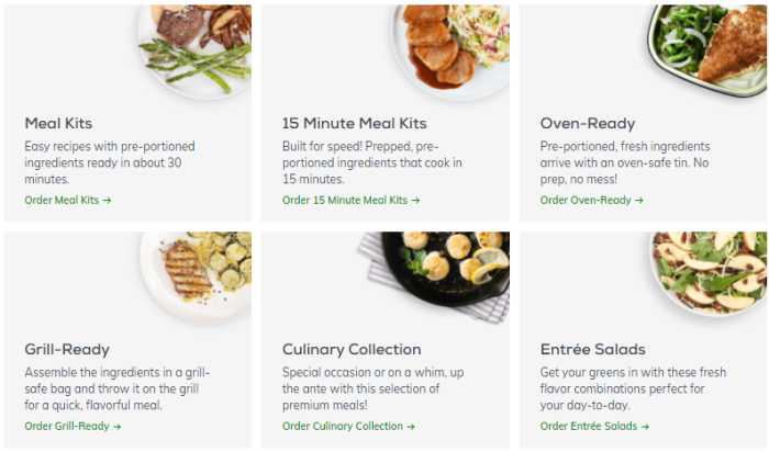 BUILD YOUR BOX - With a different menu each week, there's always new recipes to discover! Find the cooking experience you desire.