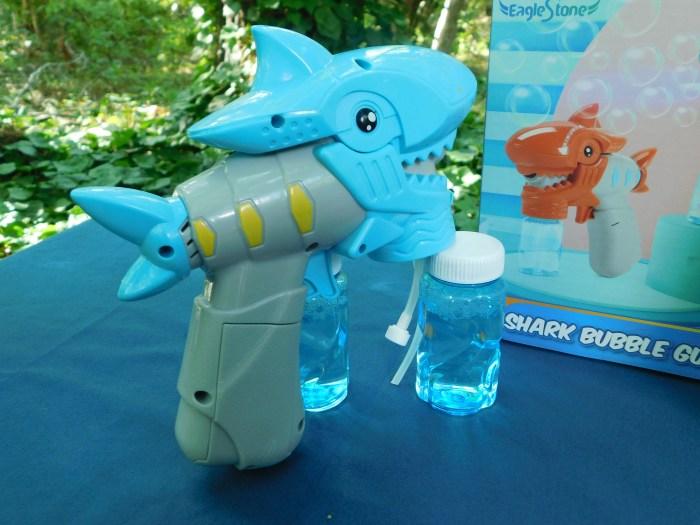 Musical LED Bubble Shark Guns - Blue Shark Gun