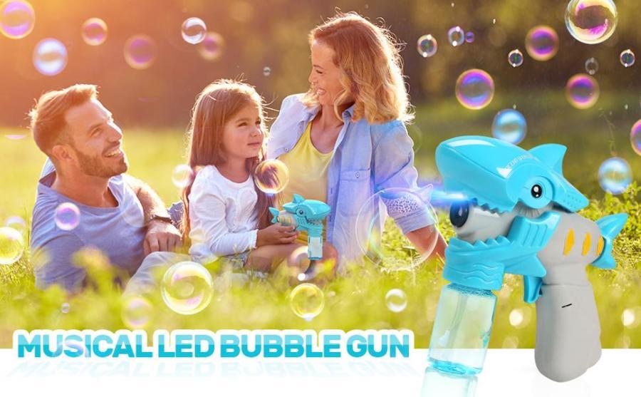Musical LED Bubble Shark Guns