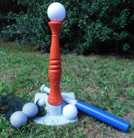 Ball toys like this Toddler T-Ball Set are a great way to build confidence and get your kids excited as they learn sports. #sports #getoutside #toddler