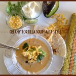 Creamy Tortilla Soup Salsa Style, Sweetsuppertime