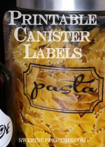 Kitchen Canister Labels Click to Download