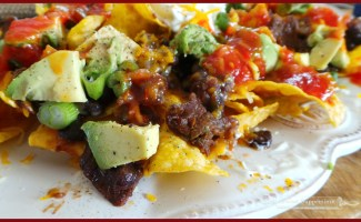 Bandit Style Steak and Baked Bean Nachos