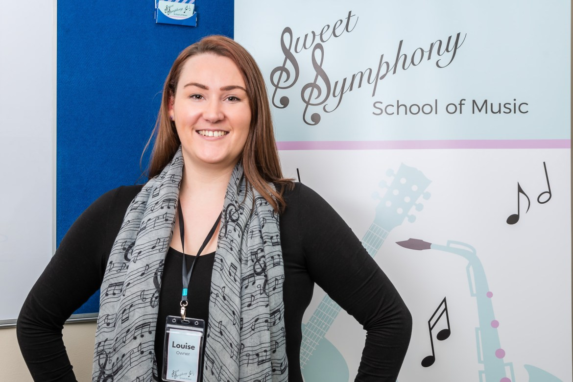 Louise Jones, owner of Sweet Symphony School of Music
