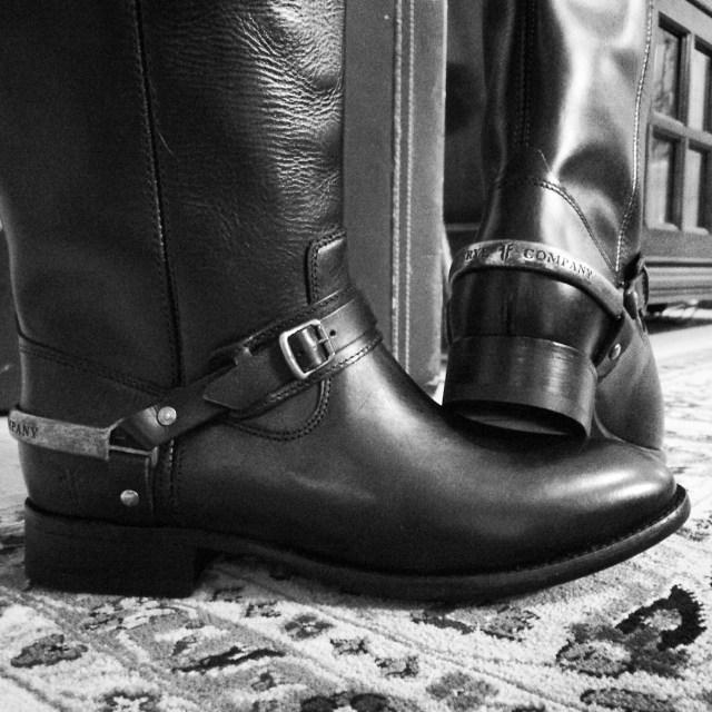 Frye Boots B&W