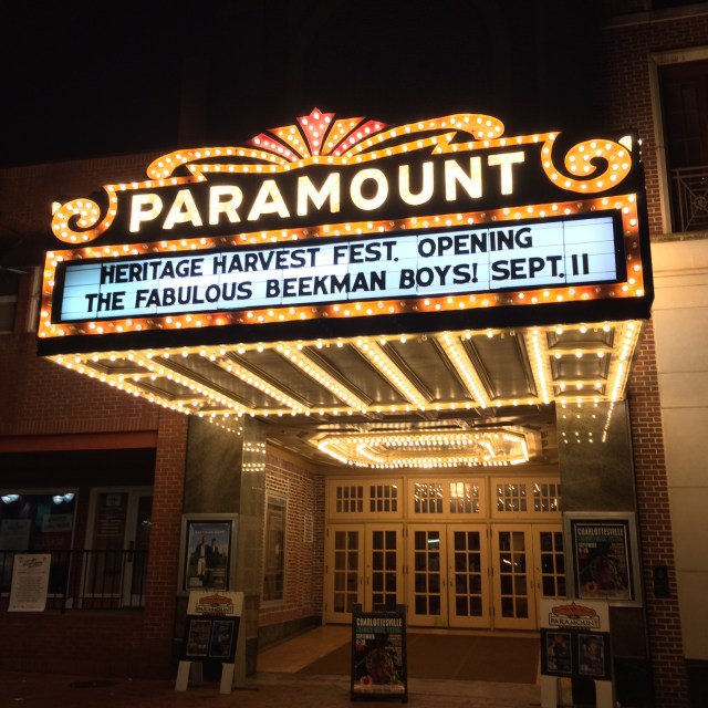 Marquee of the Paramount Theater in Charlottesville, VA
