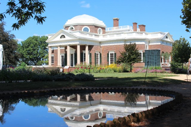 Monticello's Reflection from the Fish Pond