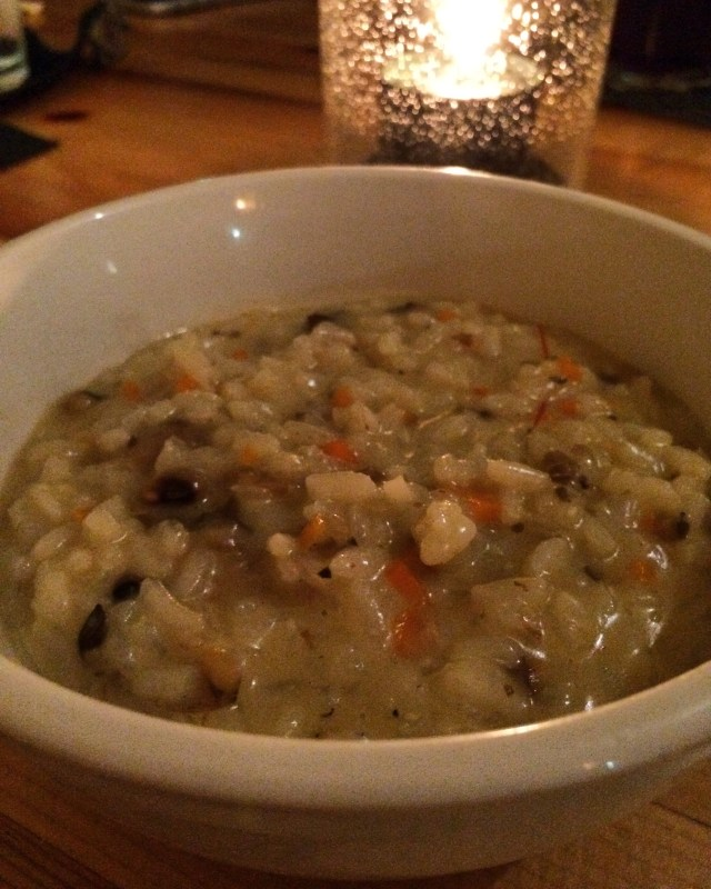 Creamy Black-eyed Pea and Mushroom Risotto