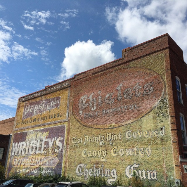 Ghost Signs on a Building on Parrish Street