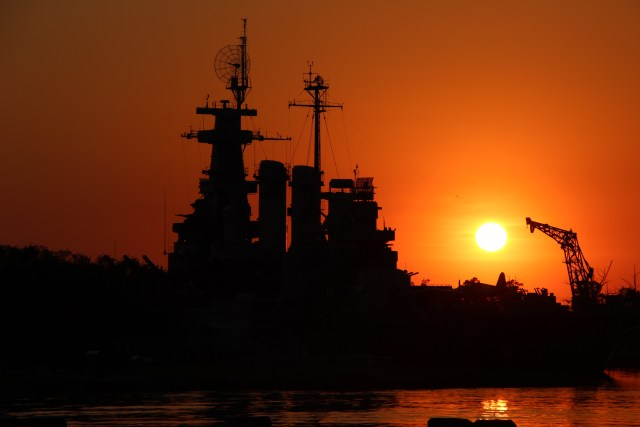 The Battleship North Carolina Across from the George