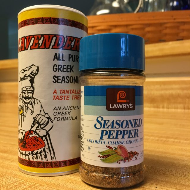 Seasoned Pepper & Cavender's All Purpose Greek Seasoning