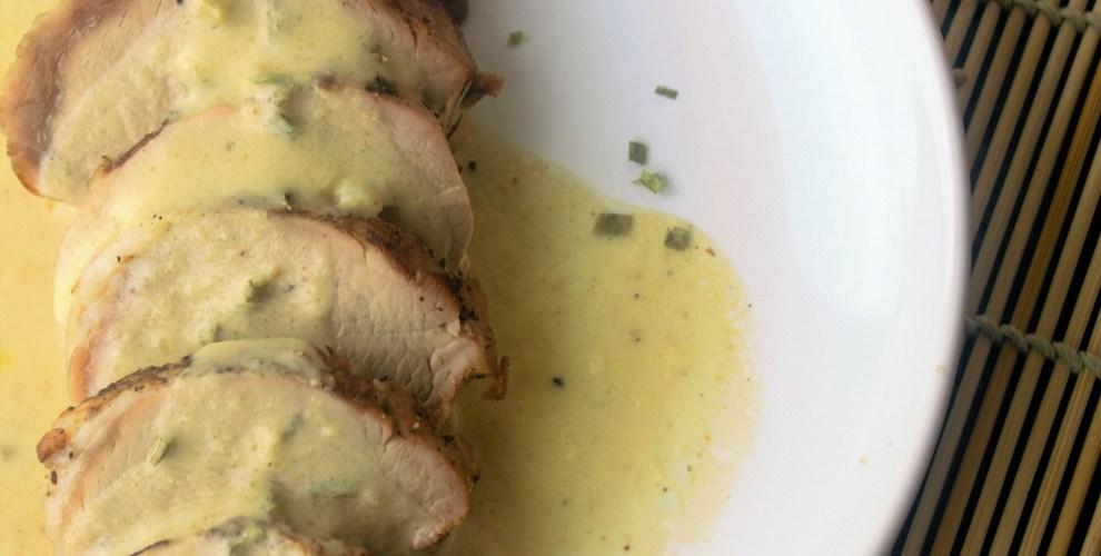 Pork Tenderloin with Mustard Cream Sauce - Sweet Tea & Thyme