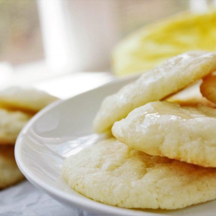 Glazed Lemon Cookies - Sweet Tea & Thyme