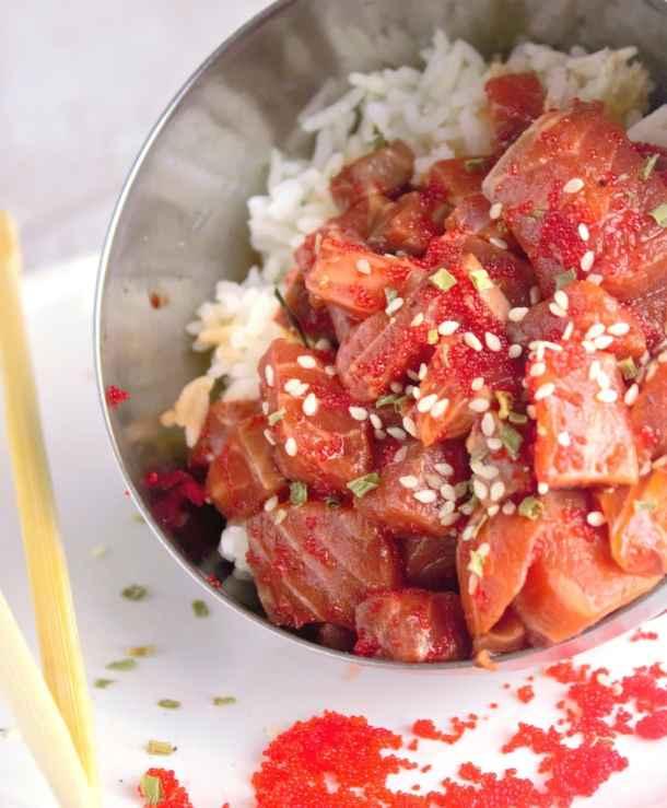 Salmon Poke - Sweet Tea & Thyme