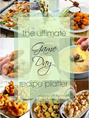 The Ultimate Superbowl Platter! Recipe Round Up