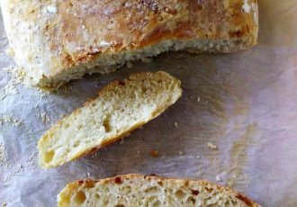 Yup, you've got a no-knead bread recipe here. But not just a no-knead bread recipe, an 'artisan' bread recipe. And it requires literally no elbow grease.