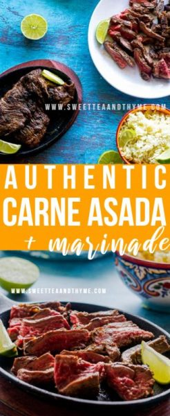 Carne Asada is easy to make with a super tasty marinade to give it a lot of flavor. This recipe is my go-to whenever I am craving authentic restaurant-quality Mexican for dinner, with plenty of ways to use up the leftovers!