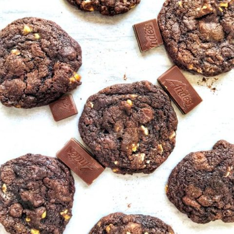 Double Chocolate Andes Mint Cookies